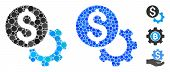 Payment Tools Mosaic Of Round Dots In Variable Sizes And Color Hues, Based On Payment Tools Icon. Ve poster