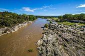 The Gardon River Near The Pont Du Gard - Nimes, France, Europe poster