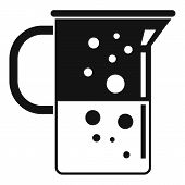 Boiling Lab Jug Icon. Simple Illustration Of Boiling Lab Jug Vector Icon For Web Design Isolated On  poster