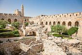 Tower of David is so named because Byzantine Christians believed the site to be the palace of King D