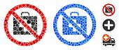 No First-aid Mosaic Of Filled Circles In Variable Sizes And Color Tints, Based On No First-aid Icon. poster