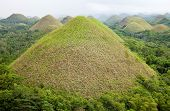 stock photo of chocolate hills  - Amazing Chocolate Hills in Bohol Visayas Philippines - JPG