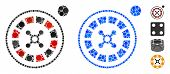 Roulette Composition Of Round Dots In Variable Sizes And Shades, Based On Roulette Icon. Vector Roun poster