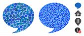 Answer Mosaic Of Round Dots In Various Sizes And Color Tints, Based On Answer Icon. Vector Round Dot poster