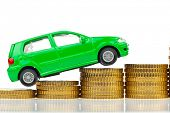 picture of allowance  - a model car is on coins - JPG