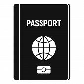 Travel Passport Icon. Simple Illustration Of Travel Passport Vector Icon For Web Design Isolated On  poster