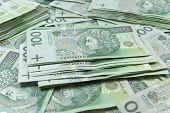 Polish Zloty Money Background poster