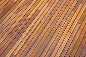 stock photo of interlock  - Deck boards on cruise ship patio decking - JPG