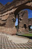 Постер, плакат: Руины ванн Каракалла в Риме Италия