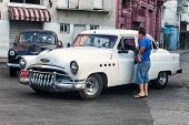 HAVANA-APRIL 4:Vintage Buick used as a taxi April 4,2013 in Havana.Thousands of these classic cars a
