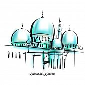 stock photo of hari  - Vector Illustration of Mosque - JPG