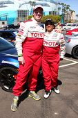 LOS ANGELES - APR 9:  Dakota Meyer, Wanda Sykes at the Toyota ProCeleb Race Press Day 2013 at the To