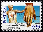 Postage Stamp Portugal 1980 Anti-smoking Campaign