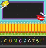image of congrats  - Vector illustration of a colorful graduation hats - JPG