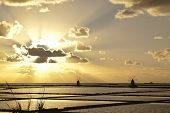 image of marsala  - Sunset on Stagnone saltern - JPG