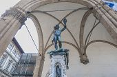 Perseus With The Head Of Medusa In Florence, Italy
