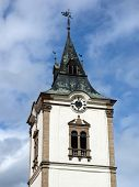 Tower Of City Cathedral In Levoca