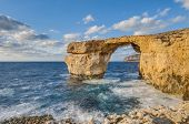 picture of gozo  - Azure Window natural arch featuring a table - JPG