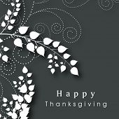 stock photo of happy thanksgiving  - Beautiful Happy Thanksgiving Day celebration poster - JPG