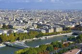 pic of bonaparte  - Bird eyes view of Paris from the Eiffel tower in Paris - JPG