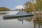 image of ironclad  - a replica of the Civil War ironclad - JPG