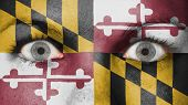 stock photo of maryland  - Close up of eyes - JPG