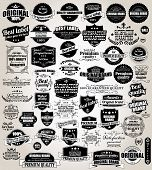 stock photo of prize  - Set of vintage retro labels - JPG