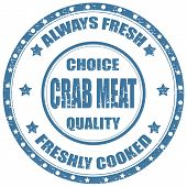 stock photo of cooked blue crab  - Grunge rubber stamp with text Crab Meat - JPG
