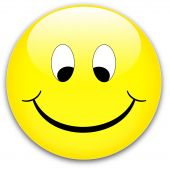 pic of ruddy-faced  - A happy shy yellow smile button ruddy  - JPG
