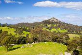 pic of dromedaries  - Little Dromedary near Central Tilba in its idyllic setting in New South Wales - JPG