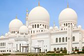 pic of emirates  - Famous Sheikh Zayed mosque in Abu Dhabi - JPG