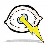 stock photo of all seeing eye  - cartoon lighting strike eye - JPG