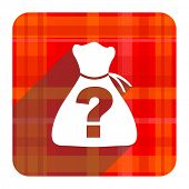 foto of riddles  - riddle red flat icon isolated  - JPG