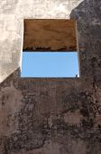 picture of sari  - window at pulo cemeti ruins taman sari water castle  - JPG