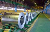 image of ironworker  - Rolls of steel sheet in steel pant - JPG