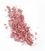stock photo of blush  - crushed pink blush isolated over white background - JPG