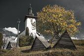 foto of templar  - Templar church at village Martincek  - JPG