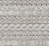 picture of tribal  - Seamless tribal pattern - JPG
