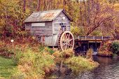 image of water-mill  - Autumn at the old Mill - JPG