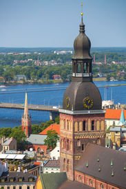 pic of doma  - Aerial view of Riga - JPG