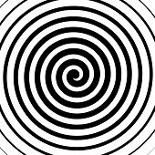 picture of psychodelic  - Volute spiral concentric lines circular motion rotating background - JPG