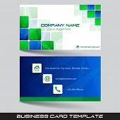 picture of visitation  - Business card template or visiting card set with square pattern - JPG