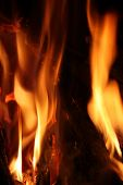 picture of fire  - Fire over black background - JPG