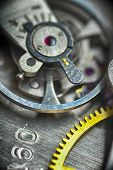 foto of clos  - very close up view on watch gears - JPG