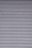 stock photo of roller door  - Galvanized Grey Steel Roller Shutter Door texture - JPG