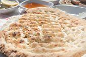 stock photo of flat-bread  - Close up of Turkish flat bread  - JPG