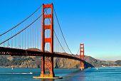 foto of gate  - Suspension Bridge Golden Gate in San Francisco - JPG