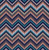 stock photo of knitwear  - Seamless geometric ethnic spokes knitted pattern - JPG