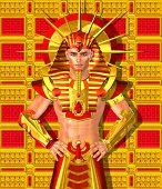 stock photo of pharaoh  - Egyptian Pharaoh Ramses - JPG