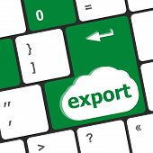 foto of export  - export word on computer keyboard key button - JPG